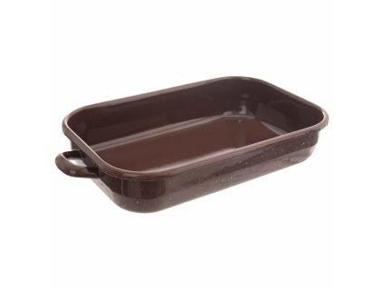 Smaltovaný pekáč Brown 37,5 x 24 cm