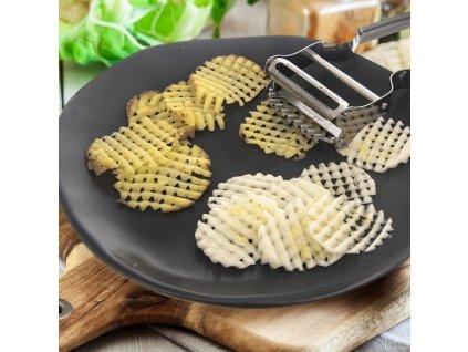 Kuchyňská škrabka DOUBLE WAVY