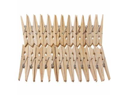 Kolíčky prádelní dřevo 24ks
