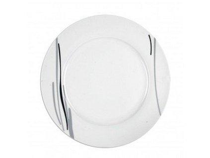 Porcelánový mělký talíř Line, průměr 27 cm