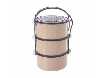 Plastový jídlonosič Lazet 3 x 1,5 l