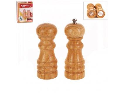 Sada dřevěných mlýnků na koření o průměru 5 cm, 2 ks