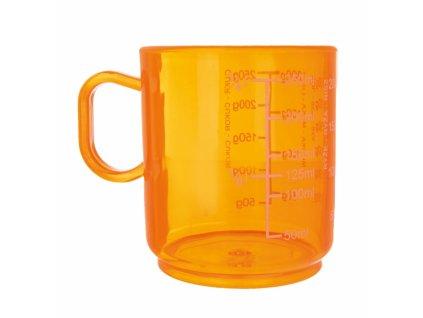 Plastová odměrka oranžová 0,25 l