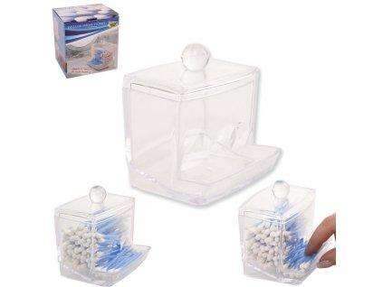 Plastová dóza na vatové tyčinky