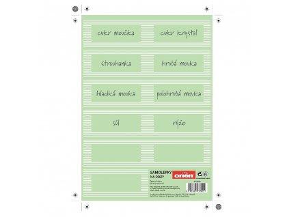 Samolepky na kuchyňské dózy CZ, 11 ks