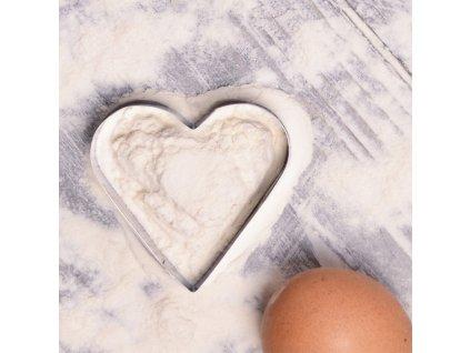 Nerezové vykrajovátko Srdce 3,5 x 3,5 cm