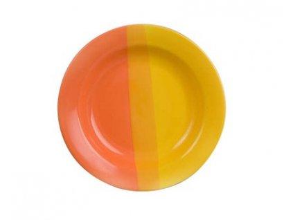 BANQUET Talíř keramický hluboký 22,5 cm, oranžovožlutý