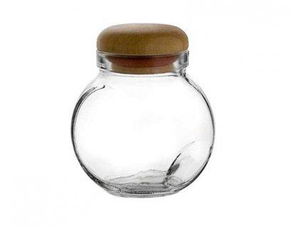 Kořenka skleněná s dřevěným víčkem WALLIBUCK 200 ml