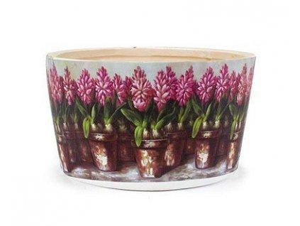 obal na květ.kulatý Hyacint