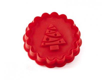 61017 3 banquet vykrajovatko silikonove culinaria red 8 5 cm tree