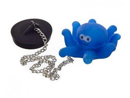 BRILANZ Špunt vanový s plovoucím zvířátkem na řetízku - chobotnice