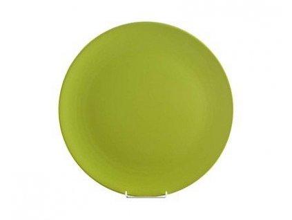 BANQUET Talíř keramický servírovací 32 cm, hráškově zelený