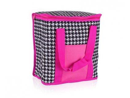 Chladící taška růžovo černá, 20 l