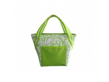 Chladící taška zelený květ, 8 l