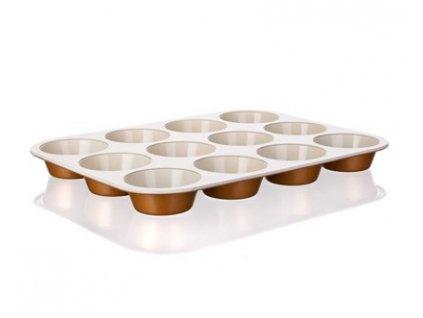 BANQUET Forma na 12 muffinů s keramickým povrchem GOURMET CERAMIA 35 x 26,5 x 3 cm