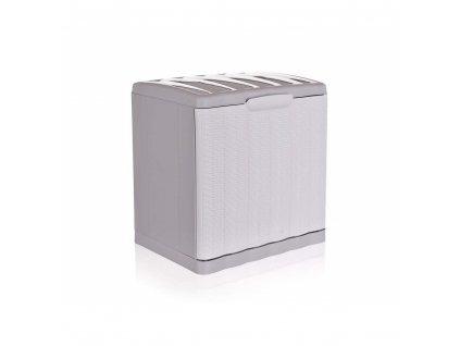 Botník Ratan bílý 40x30x40cm