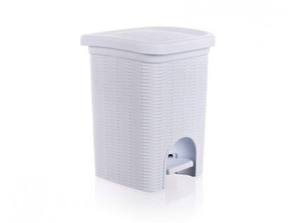 Koš koupelnový RATTAN 6 l, bílý
