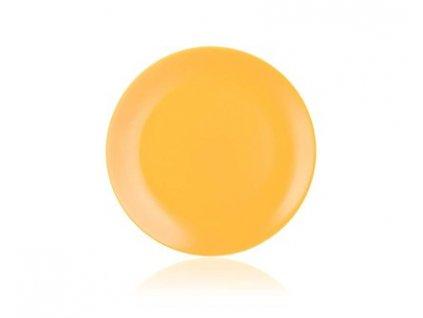 BANQUET Talíř keramický mělký AMANDE 26,5 cm, žlutý mat
