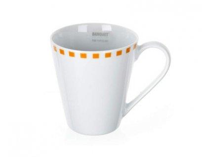 BANQUET Hrnek porcelánový CUBITO Orange 290 ml