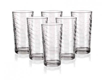 Sada sklenic long Banquet Pure Wave 270 ml, 6 ks