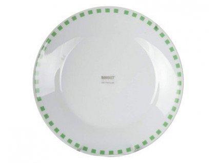 BANQUET Talíř porcelánový dezertní CUBITO Green 19 cm