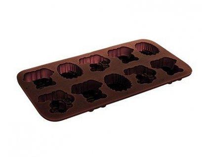 63864 banquet formicky na cokoladu silikonove culinaria brown 20 3 x 10 6 cm zviratka