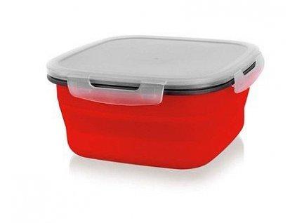 BANQUET Miska skládací silikonová CULINARIA Red 1900 ml, s víčkem