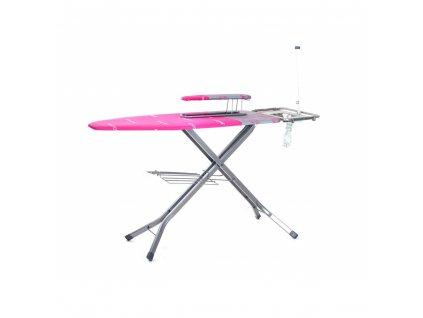 Žehlící prkno Brilanz Professional 130x48 cm, růžové