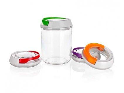 BANQUET Dóza plastová hermetická KLIKON 0,7 l, mix barev