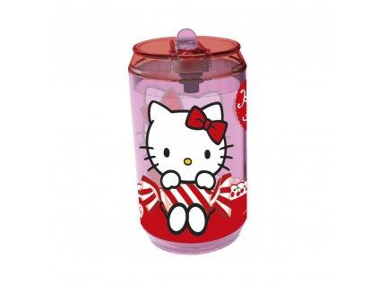 BANQUET Láhev plastová s brčkem HELLO KITTY 410 ml