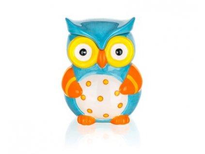 BANQUET Dóza keramická OWL 470 ml, 10,4 x 10,2 x 13 cm