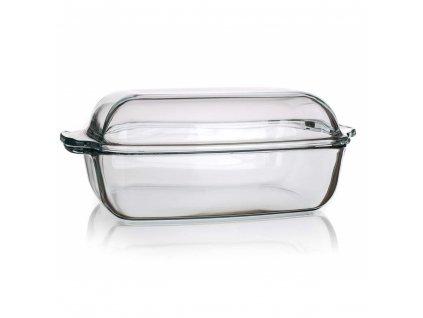 SIMAX Pekáč skleněný hranatý s víkem 5,5 l (3,20/2,30)
