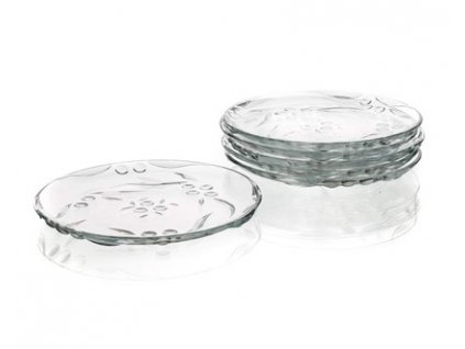 PASABAHCE Sada dezertních talířů PERLA 19,4 cm, 6 ks