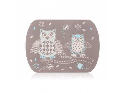 Korkové prostírání Banquet Retro Owls, 39 x 28 cm