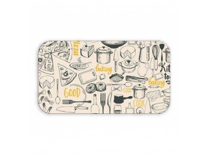 Melaminový jídelní tác Banquet Retro Kitchen, 29,5 x 16,5 cm