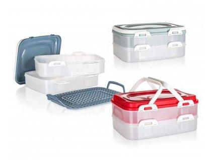 Plastový box na potraviny s držadly Banquet Culinaria, 2 x 7 l