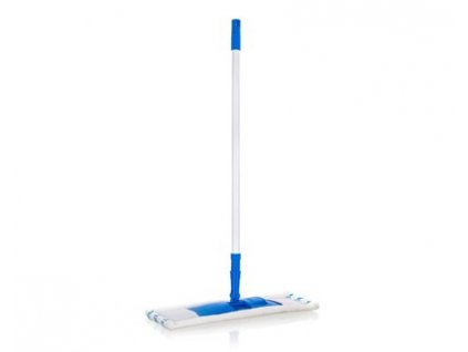 BRILANZ Mop plochý mikrovlákno s teleskopickou tyčí 120 cm, tmavě modrý