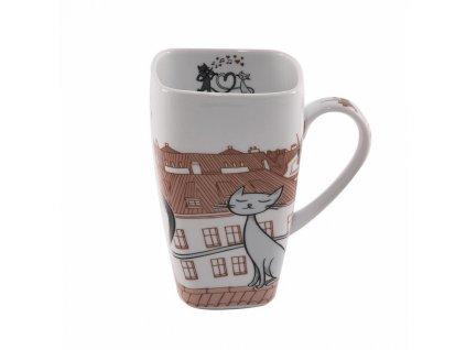 Porcelánový hrnek Kočky ve městě, 0,6 l