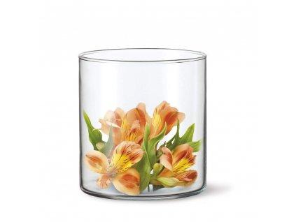 Skleněná váza Simax Drum, 17 x 12 cm