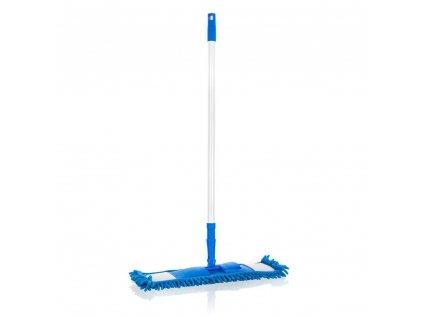 BRILANZ Mop plochý žinylkový s teleskopickou tyčí 120 cm, tmavě modrý