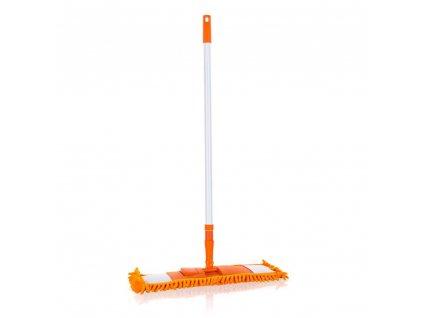 BRILANZ Mop plochý žinylkový s teleskopickou tyčí 120 cm, oranžový