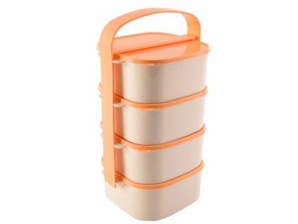 Plastový jídlonosič Almi 4 x 1,15 l