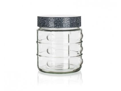 Skleněná dóza na potraviny Banquet Granite, 1,0 l