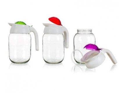 BANQUET Džbán skleněný MERIDA 1,5 l, mix barev