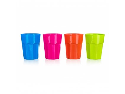 BANQUET Kelímek plastový ACCASA 0,43 l,  8,7 x 11,2 cm, mix barev