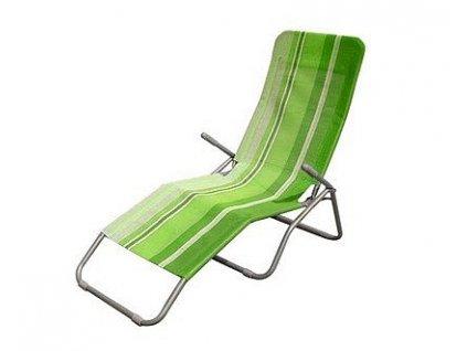 Plážové lehátko Happy Green, zelený pruh
