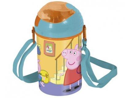 BANQUET Láhev plastová POP UP Peppa PIG 450 ml