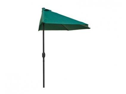 Slunečník půlkruhový Happy Green, 270 x 135 cm
