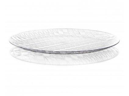 BANQUET Tác kulatý ACCASA 35 cm, transparentní