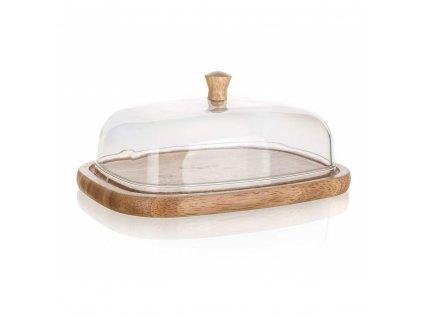 Dřevěná máslenka Banquet Brillante, 17,4 x 12,4 cm